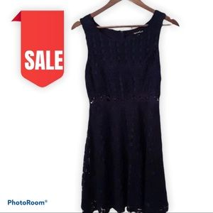 🍒2 for $20 Lace Aline Fit Flare Dress Navy Blue S